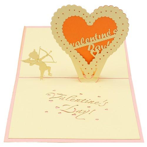 Thiệp handmade thiệp nổi 3d-Thiệp sinh nhật đẹp-Thiệp nổi-Thiệp chúc mừng-Trái tim tình yêu-Thiệp-12 x 12 cm
