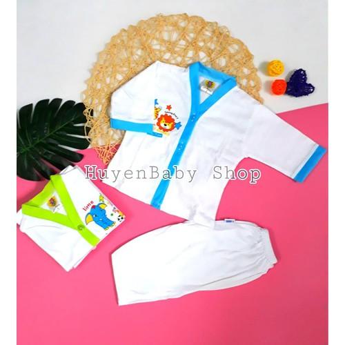 Set 5 bộ quần áo sơ sinh tay dài màu trắng Hello Baby cho bé từ 3-11,3kg