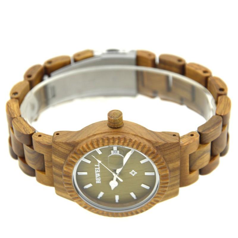 Đồng hồ nữ đeo tay bằng gỗ đẹp sang trọng mã 064AL bewell 4