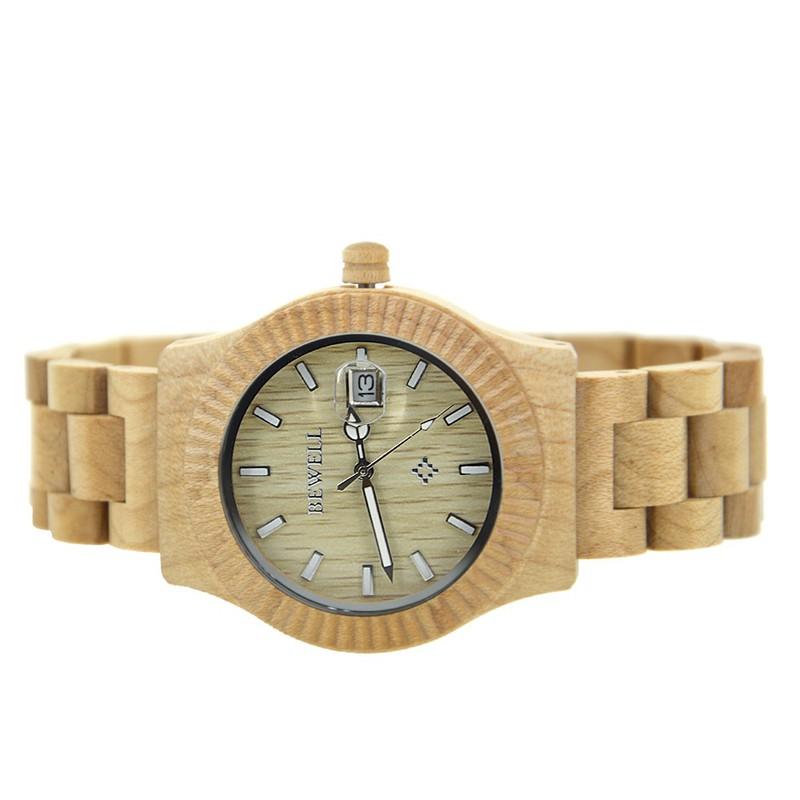 Đồng hồ nữ đeo tay bằng gỗ đẹp sang trọng mã 064AL bewell 2