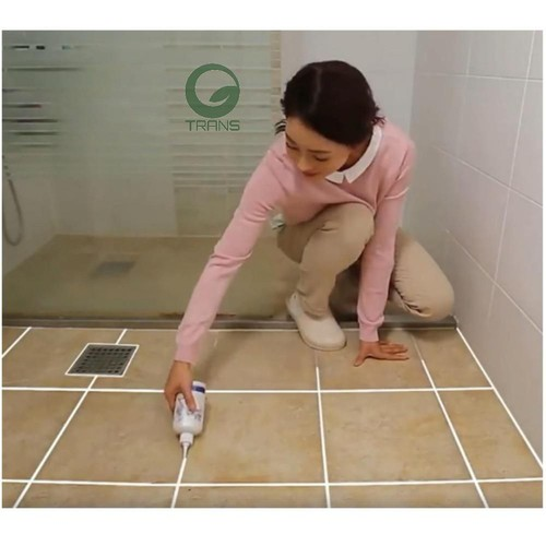 Bình sơn trắng viền gạch giúp làm sạch nền nhà cực nhanh cầm tay mini