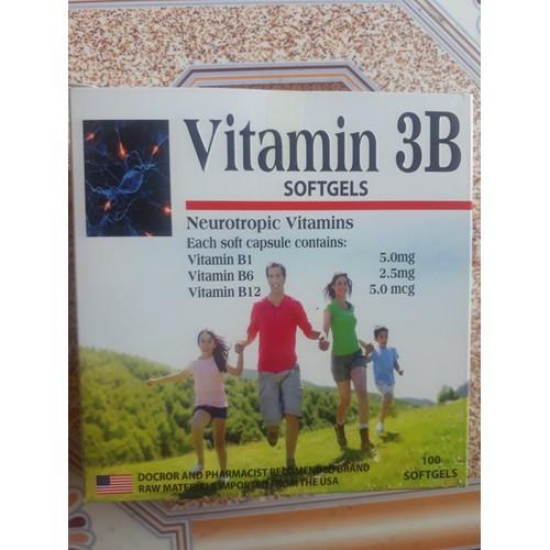 Vitamin 3B  bổ thần kinh hộp 10 vỉ x 10 viên quà tặng cho sức khỏe giúp giảm tê bì chân tay lưu thong máu tốt giúp ăn ngon ngủ ngon và tốt cho khớp - 9054831 , 18730336 , 15_18730336 , 75000 , Vitamin-3B-bo-than-kinh-hop-10-vi-x-10-vien-qua-tang-cho-suc-khoe-giup-giam-te-bi-chan-tay-luu-thong-mau-tot-giup-an-ngon-ngu-ngon-va-tot-cho-khop-15_18730336 , sendo.vn , Vitamin 3B  bổ thần kinh hộp 10 vỉ