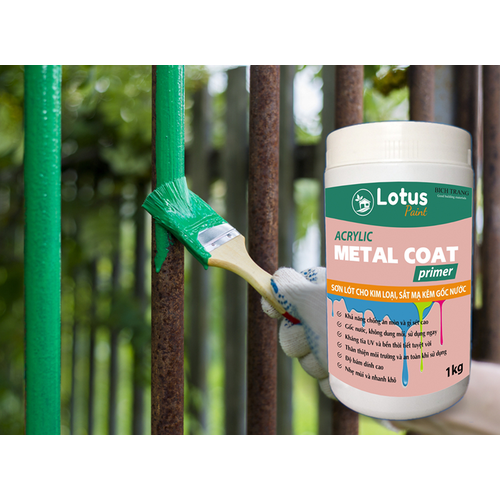 Sơn kim loại - sơn lót sắt mạ kẽm, nhẹ mùi, an toàn, hệ nước - metal primer
