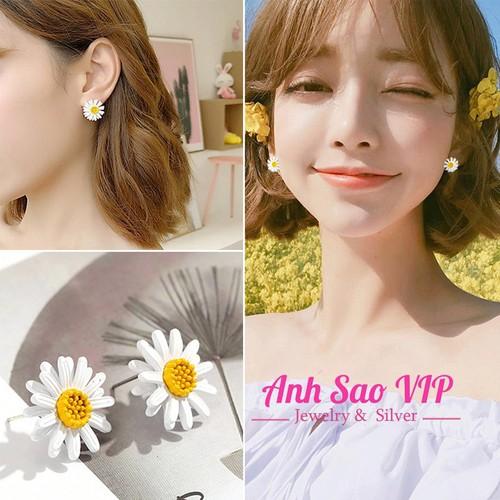 Bông tai nữ B26068 hoa cúc cao cấp style  Hàn Quốc  anh sao vip