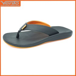Dép kẹp nam hiệu Vento mã số CL01 quai da màu đen phối cam