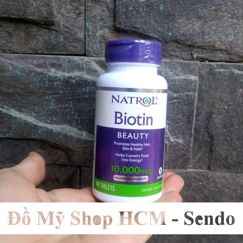 Viên uống hỗ trợ mọc tóc, chống rụng tóc Natrol Biotin 10000 Mcg Của Mỹ 100 Viên - 9055357 , 18730918 , 15_18730918 , 175000 , Vien-uong-ho-tro-moc-toc-chong-rung-toc-Natrol-Biotin-10000-Mcg-Cua-My-100-Vien-15_18730918 , sendo.vn , Viên uống hỗ trợ mọc tóc, chống rụng tóc Natrol Biotin 10000 Mcg Của Mỹ 100 Viên