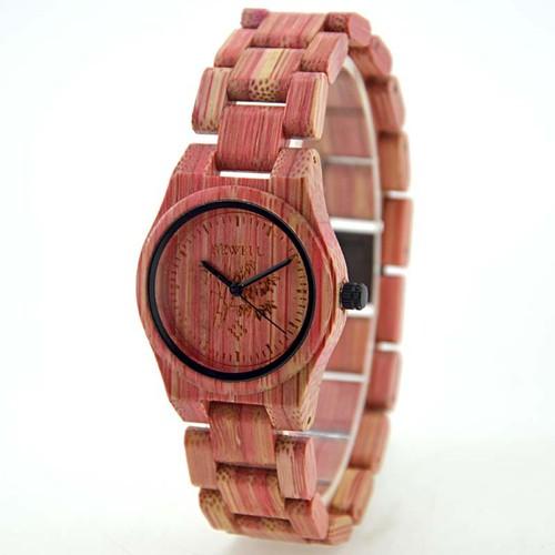 Đồng hồ đeo tay bằng gỗ tre đẹp thời trang