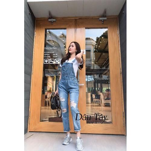 Quần yếm jean dài - 9060339 , 18737636 , 15_18737636 , 165000 , Quan-yem-jean-dai-15_18737636 , sendo.vn , Quần yếm jean dài