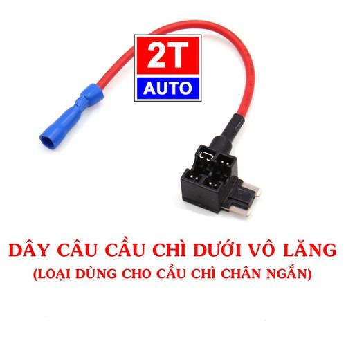Dây câu nối cầu chì dùng cho ô tô, xe hơi  LOẠI CHÂN NGẮN - Car Fuse Adapter Tap, Fuse Holder Connector.