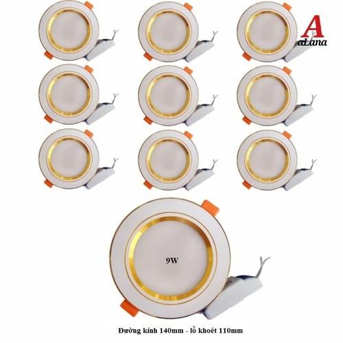 Bộ 10 đèn led âm trần viền vàng 7w 3 màu 3 chế độ - 7779278 , 18724223 , 15_18724223 , 495000 , Bo-10-den-led-am-tran-vien-vang-7w-3-mau-3-che-do-15_18724223 , sendo.vn , Bộ 10 đèn led âm trần viền vàng 7w 3 màu 3 chế độ
