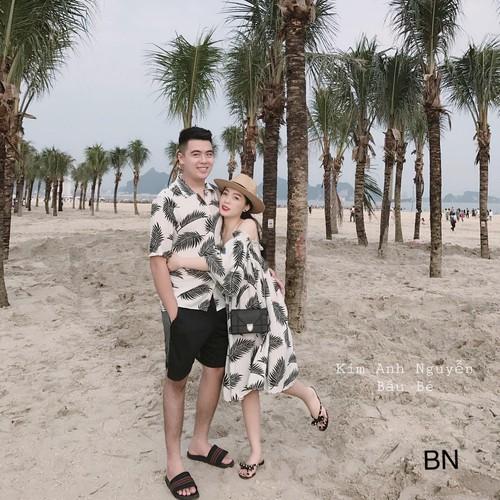 đồ đi biển đẹp nam nữ đôi gia đình lá cây  BN 521869