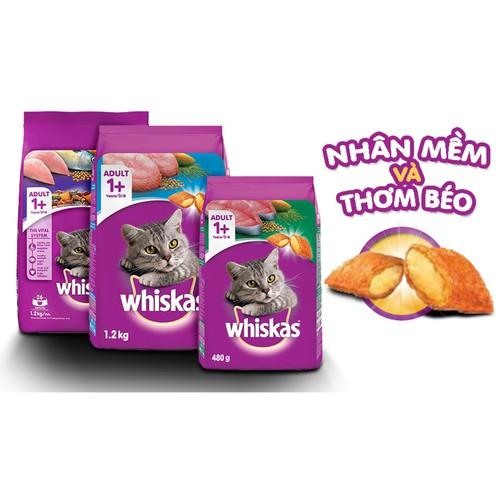 Thức ăn cho mèo Whiskas 1,2 kg