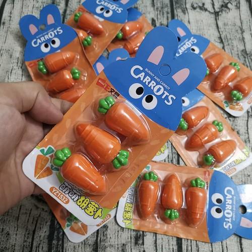 Bộ 3 cục gôm cà rốt siêu cool đáng yêu