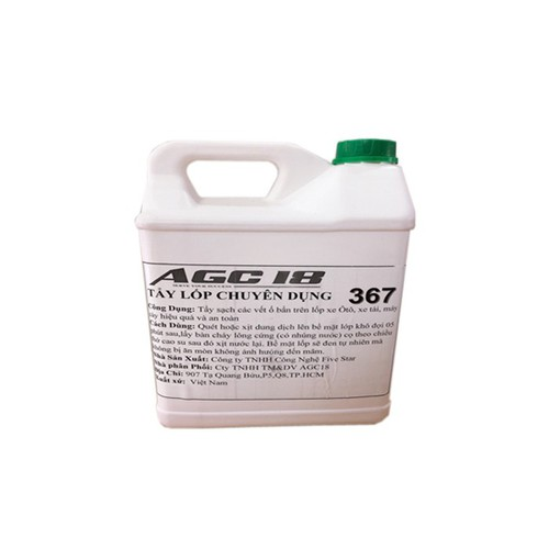 Tẩy lốp chuyên dụng AGC - 367 can 5L