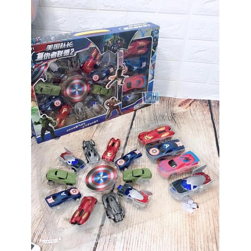 Bộ 14 xe đồ chơi siêu anh hùng Avenger