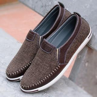 Giày lười nam - giày lười nam vải bố cao cấp - VAIBO07 thumbnail