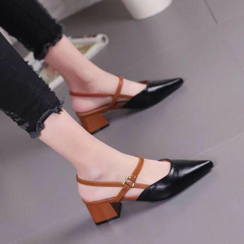 Giày sandal đế vuông cao cấp