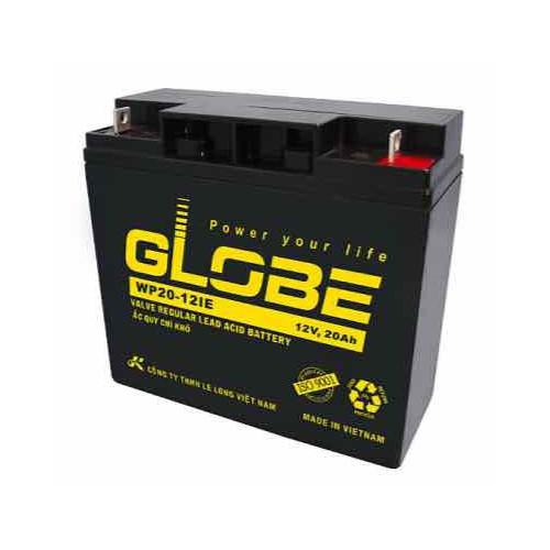 Bình ắc quy kín khí AGM VRLA Globe 12V-20Ah