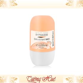Lăn Khử Mùi Nữ Byphasse Deodorant 24H Hạnh Nhân D'AMANDE - 50ml - Cam. - Lan_Nu_Byphasse_50ml_Cam