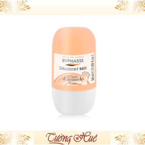 Lăn Khử Mùi Nữ Byphasse Deodorant 24H Hạnh Nhân D