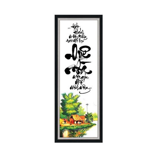 Tranh treo tường VTC Thư pháp lang que Viet Nam UD0155K1 kt 30 x 80 cm