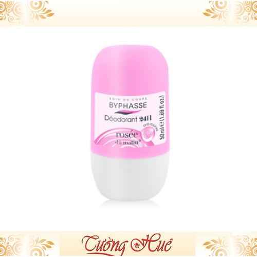 Lăn Khử Mùi Nữ Byphasse Deodorant 24H ROSÉE - 50ml - Hồng.