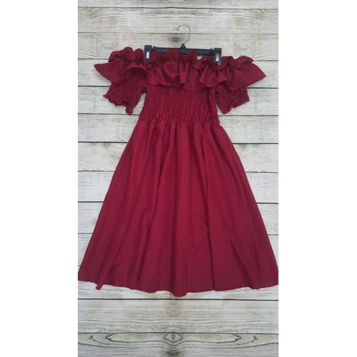 đầm bệt vai bèo đỏ