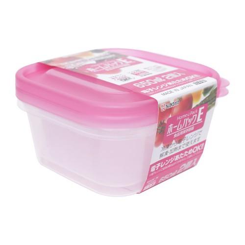 Set 2 hộp nhựa 650ml màu hồng - Hàng nội địa Nhật