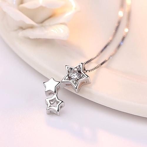 Dây chuyền bạc S925 nữ tính cổ tích tình yêu Genist Star đính đá zircon lấp lánh YS-DC60