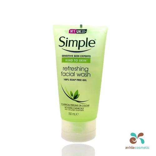 Sữa rửa mặt Simple Kind To Skin Refreshing Facial Wash Gel 150ml - 4831774 , 18751388 , 15_18751388 , 129000 , Sua-rua-mat-Simple-Kind-To-Skin-Refreshing-Facial-Wash-Gel-150ml-15_18751388 , sendo.vn , Sữa rửa mặt Simple Kind To Skin Refreshing Facial Wash Gel 150ml