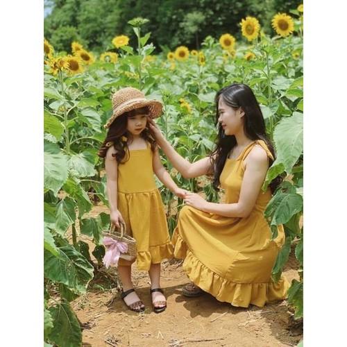 set đầm dây cho mẹ và bé màu vàng - 4832963 , 18759044 , 15_18759044 , 225000 , set-dam-day-cho-me-va-be-mau-vang-15_18759044 , sendo.vn , set đầm dây cho mẹ và bé màu vàng