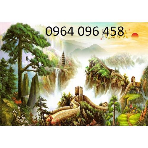 tranh núi - gạch tranh 3d Q109