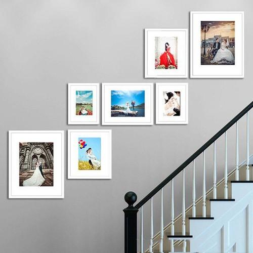 Bộ khung ảnh treo tường cầu thang kad702 - hỗ trợ in ảnh