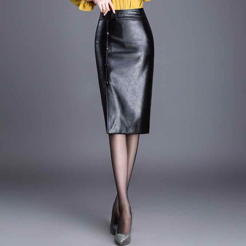 Chân váy da nữ cao cấp thiết kế da mềm dáng sang