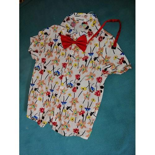 Bộ quần áo hoa nơ đỏ bé trai đi chơi size 110 - 9064348 , 18743335 , 15_18743335 , 220000 , Bo-quan-ao-hoa-no-do-be-trai-di-choi-size-110-15_18743335 , sendo.vn , Bộ quần áo hoa nơ đỏ bé trai đi chơi size 110