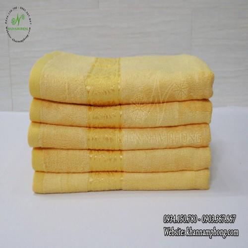 Khăn Tắm Sợi Tre Cao Cấp Màu Vàng 60x120cm | Khan Nam Phong