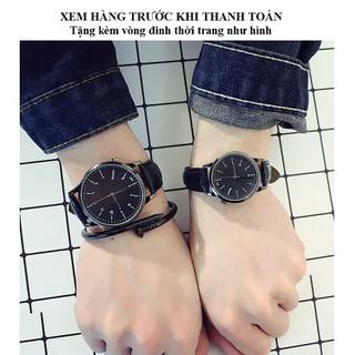 Đồng Hồ Đôi Dây Da phong cách Hàn Quốc BAZAS BZ88Đ953W - Tặng kèm vòng đinh thời trang - BZ88Đ953W thumbnail