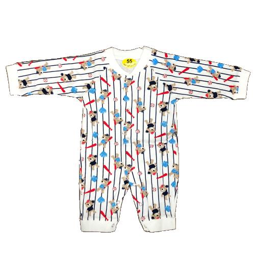 Bộ Bodysuit Tay Dài Hình Gấu Cho Bé 0~12m