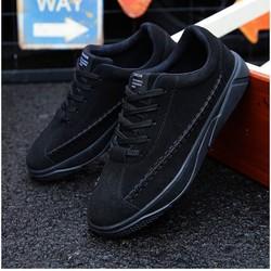 Giày Sneaker Nam Cổ Cao Màu Full Đen