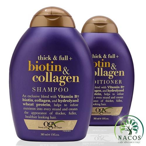 Bộ dầu gội dầu xả Thick & Full Biotin Collagen Shampoo Conditioner 385ml