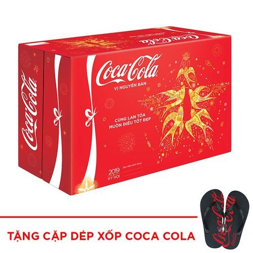 Nước ngọt có ga Coca-Cola thùng 24 lon 330ml + Tặng Cặp dép xốp Coca Cola - 9072312 , 18754588 , 15_18754588 , 259000 , Nuoc-ngot-co-ga-Coca-Cola-thung-24-lon-330ml-Tang-Cap-dep-xop-Coca-Cola-15_18754588 , sendo.vn , Nước ngọt có ga Coca-Cola thùng 24 lon 330ml + Tặng Cặp dép xốp Coca Cola