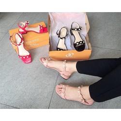 [Hàng Hiệu - Giá Shock] Giày Sandal nữ quai ngang Dolapo - Xăng đan Nữ Đế Bệt Quai Ngang
