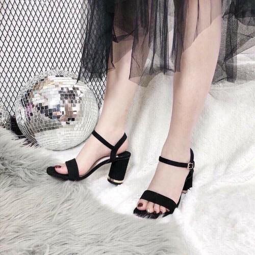 Giày sandal bảng gót tròn