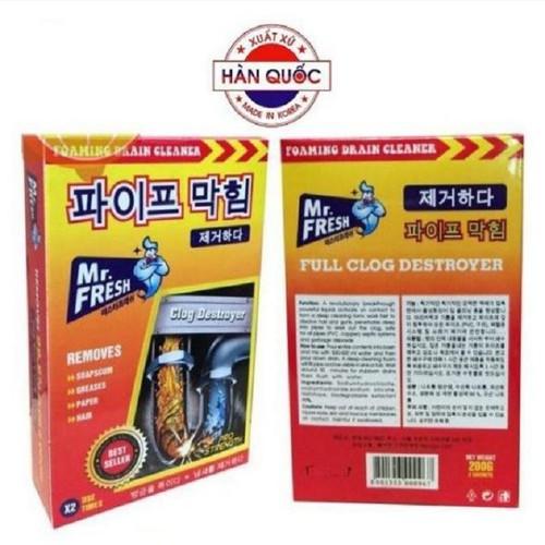 Bột Thông Tắc Đường Ống Tẩy Rửa Đa Năng 2x100g Mr.Fresh - KVS007
