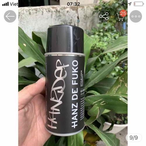 Hanz de Fuko style lock hair spray gôm xịt tóc284g