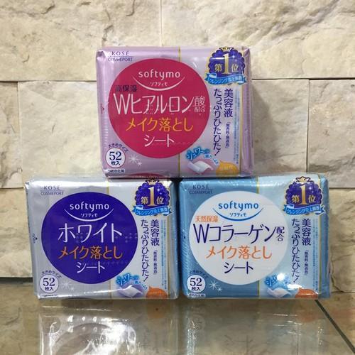 Giấy Tẩy Trang Kose Collagen Nhận Bản 52 Miếng