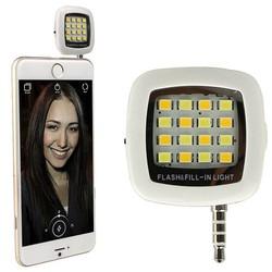 Đèn 16 Bóng Led Flash Với 3 Chế Độ Sáng Cho Điện thoại Hỗ Trợ Ánh Sáng Quay Tik Tok Chụp Hình Selfie Tự Sướng