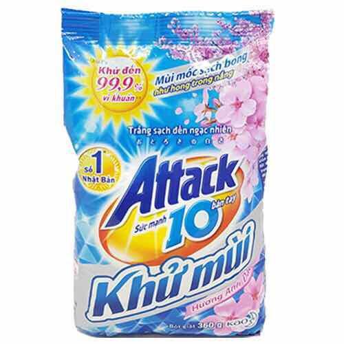 Bột giặt attack khử mùi hương hoa 360g