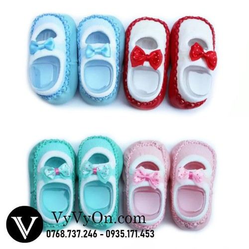 Set 2 đôi giầy vớ bé gái