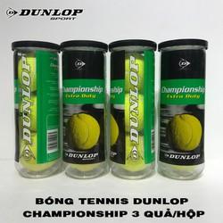 Hộp bóng Tennis Dunlop Championship -3 Quả 1 Hộp - Hàng chính hãng thương hiệu từ Anh Quốc